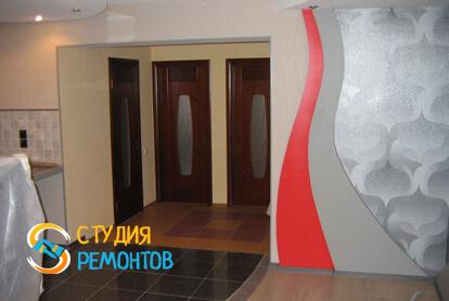 Капитальный ремонт большой комнаты в квартире 33 кв.м. фото 2