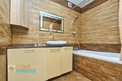 Капремонт квартиры 34 кв.м. Ванная комната