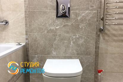 Евроремонт совмещенного санузла в квартире 35 кв.м. фото 2