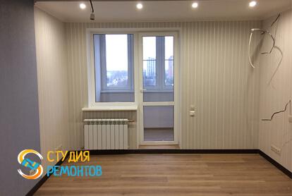 Евроремонт жилой комнаты в квартире 35 кв.м. фото 1