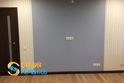 Евроремонт жилой комнаты в квартире 35 кв.м. фото 2