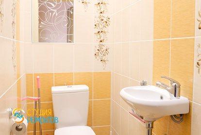 Евроремонт туалета в квартире 36 кв.м.