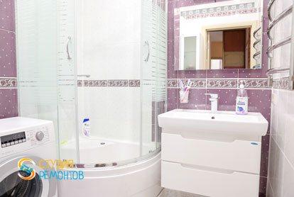 Евроремонт ванной в квартире 36 кв.м.