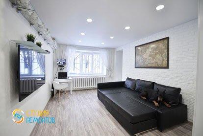 Евроремонт комнаты в квартире 36 м2 фото 1