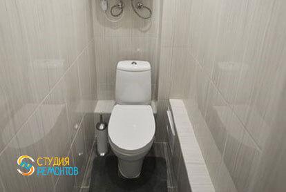 Евроремонт туалета в квартире 36 м2