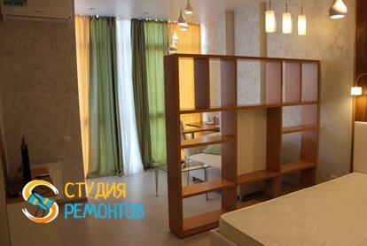 Евроремонт спальни в квартире 37 кв.м. фото 2