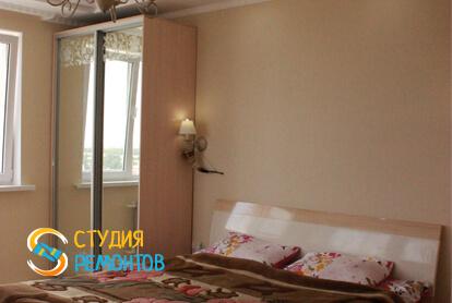 Капитальный ремонт спальной комнаты в квартире 37 м2 фото 1