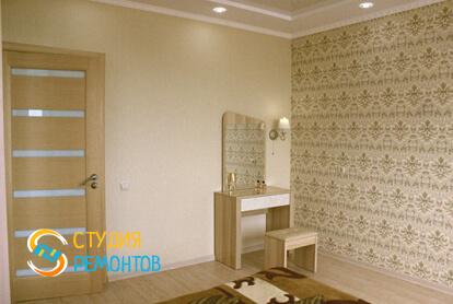 Капитальный ремонт спальной комнаты в квартире 37 м2 фото 2