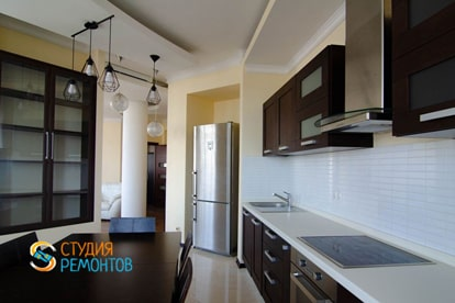 Евроремонт кухни в квартире 38 м2