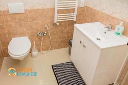 Евроремонт туалета в квартире 38 м2