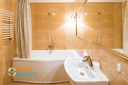 Евроремонт ванной в квартире 38 м2