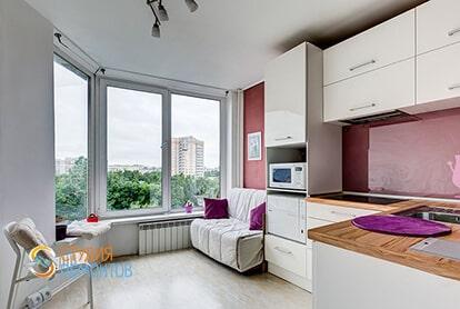 Евроремонт кухни в квартире 39 кв.м.