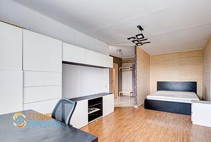 Евроремонт спальни в квартире 39 кв.м.