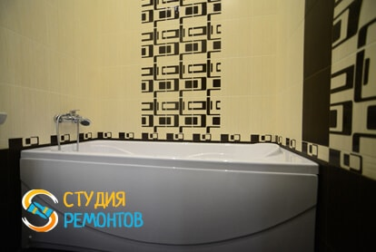 Косметический ремонт ванной в квартире 40 м2
