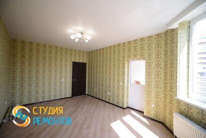 Косметический ремонт жилой комнаты в квартире 40 м2 фото 1