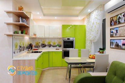Евроремонт кухни в квартире 42 кв.м.