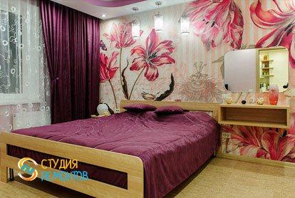 Евроремонт спальни в квартире 42 кв.м. фото 1