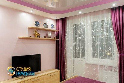Евроремонт спальни в квартире 42 кв.м. фото 2