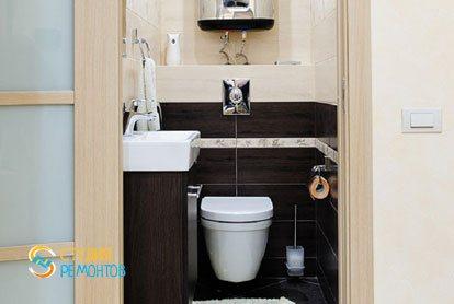 Евроремонт туалета в квартире 42 кв.м.