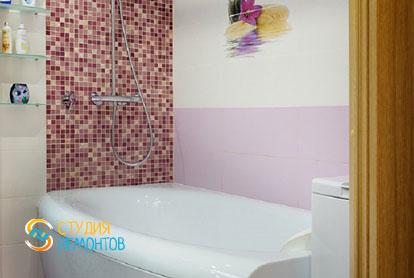 Евроремонт ванной в квартире 42 кв.м. фото 1