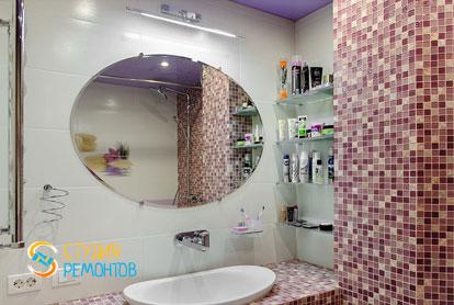 Евроремонт ванной в квартире 42 кв.м. фото 2