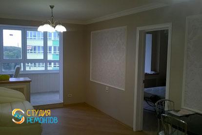 Евроремонт гостиной-кабинета в квартире 42 м2 фото 1