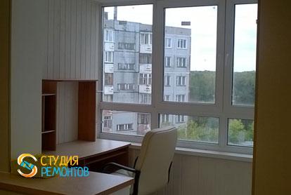 Евроремонт гостиной-кабинета в квартире 42 м2 фото 3