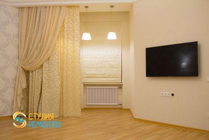 Евроремонт жилой комнаты в квартире 42 м2 фото 2