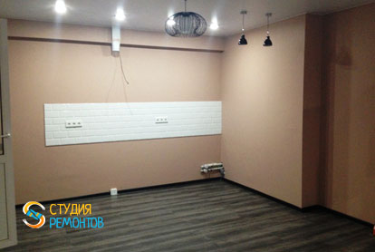 Капитальный ремонт квартиры 43 кв.м. Кухня-зал, фото-1
