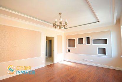 Евроремонт гостиной в квартире 44 кв.м. фото 1