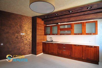 Евроремонт кухни в квартире 44 кв.м. фото 2