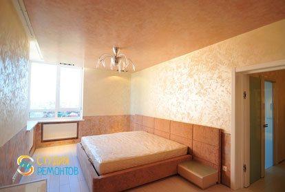 Евроремонт спальни в квартире 44 кв.м.