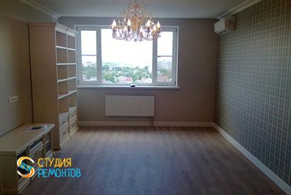 Косметический ремонт гостиной в квартире 44 кв.м. фото 1