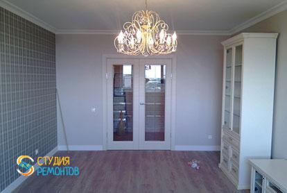 Косметический ремонт гостиной в квартире 44 кв.м. фото 2