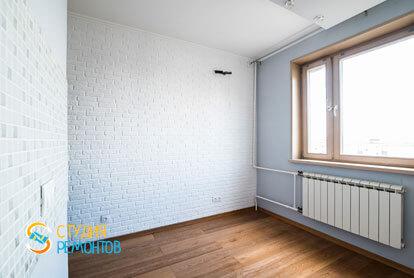 Косметический ремонт кухонной комнаты в квартире 44 м2 фото 1