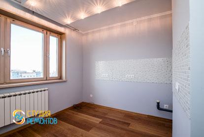Косметический ремонт кухонной комнаты в квартире 44 м2 фото 2