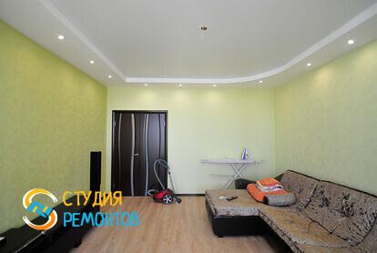 Капитальный ремонт гостиной комнаты в квартире 45 м2 фото 2