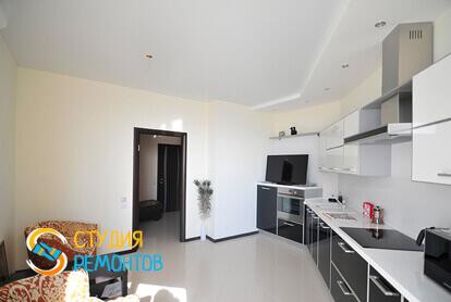 Капитальный ремонт кухонной комнаты в квартире 45 м2 фото 1