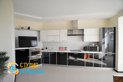 Капитальный ремонт кухонной комнаты в квартире 45 м2 фото 2