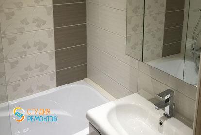 Ремонт ванной в квартире 47 кв.м. у метро Марьино, фото-2