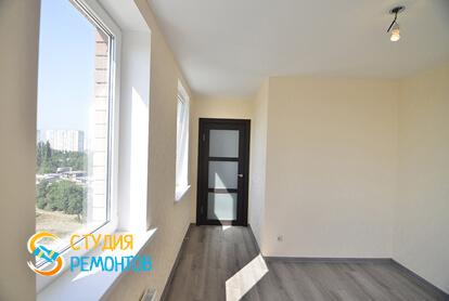 Евроремонт жилой комнаты в квартире 50 кв.м. фото 2