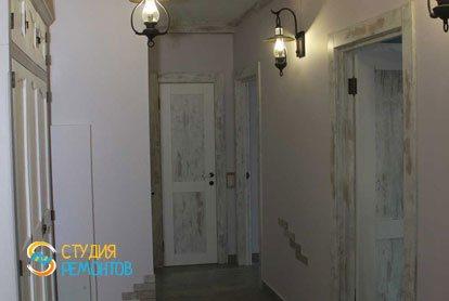 Евроремонт коридора в квартире 52 кв.м. фото 2