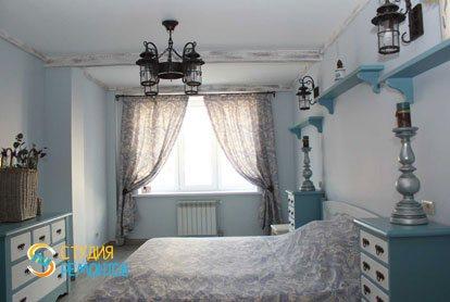 Евроремонт спальни в квартире 52 кв.м. фото 1