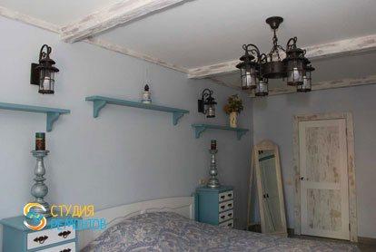 Евроремонт спальни в квартире 52 кв.м. фото 2