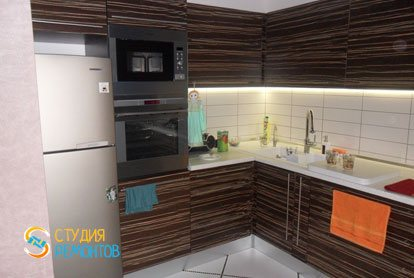 Евроремонт кухни-зала в квартире 52 м2 фото 3