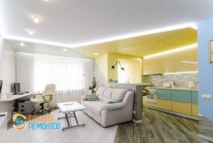 Ремонт кухни с гостиной в евродвушке 53 кв.м. в Химках