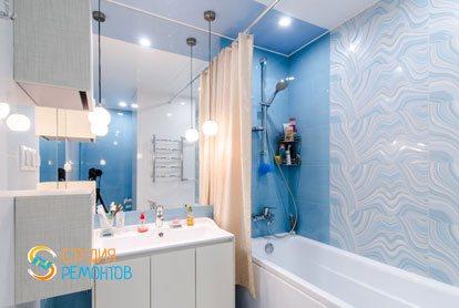 Ремонт ванной в евродвушке 53 кв.м. в Химках