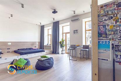 Капитальный ремонт кухни и комнаты в квартире 54 кв.м. фото 1