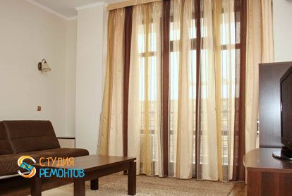 Ремонт гостиной в квартире 55 кв.м. в Митино
