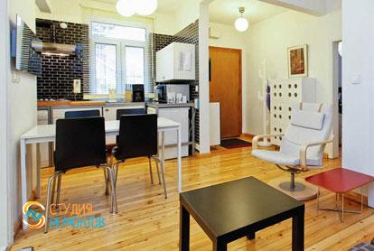 Ремонт кухни-столовой в квартире 55 м2 в Печатниках